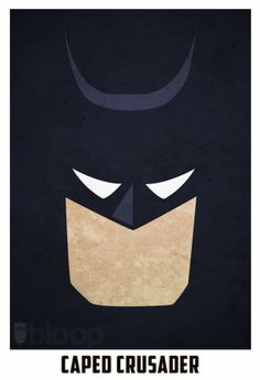 Batman (minimalist superhero) | By: Andres Romero