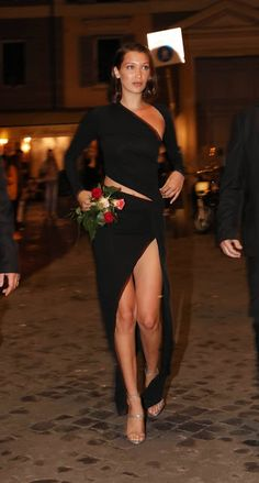 Fashion fan blog from industry supermodels: BELLA HADID Night Out in Rome 2017