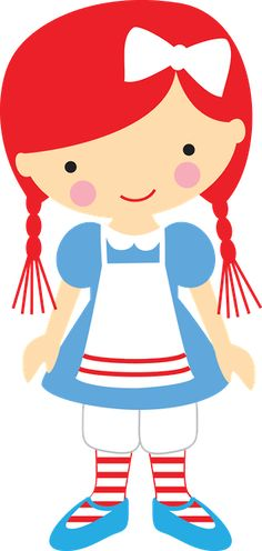 Personagens - Minus Felt Dolls, Paper Dolls, Cute Images, Cute Pictures, Raggedy Ann And Andy, Cute Clipart, Cute Art, Art Girl, Chibi