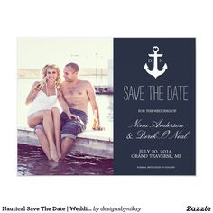 Nautical Save The Date | Wedding 4.25x5.5 Paper Invitation Card