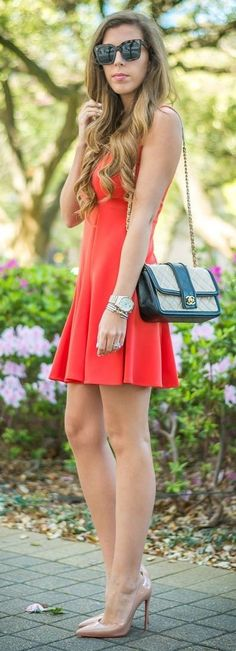 in the flirty Lacie Flounce Dress from the Muse by Maggy London Pop Up Collection Spring Dresses, Spring Outfits, Outfits 2016, Pinterest Fashion, Feminine Dress, New York Fashion, Cute Dresses, Casual, Spring Fashion
