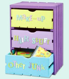 Painted 3-Drawer Crate   DIY Organizing