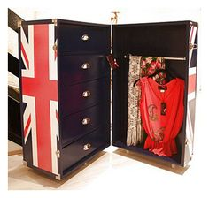 The Design Company Union Jack Storage Trunk, great storage and on wheels too! Love it