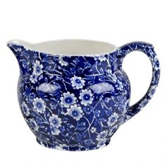 The Bee's Knees British Imports - Blue Calico Sm. Dutch Jug Creamer, $37.00 (http://www.thebeeskneesbritishimports.com/products/Blue-Calico-Sm.-Dutch-Jug-Creamer.html/)