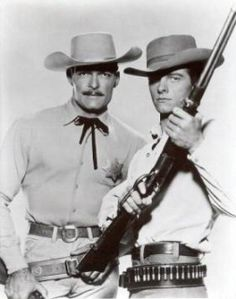 The Lawman John Russell / Marshal Dan Troop - Peter Brown / Deputy Johnny McKay I met Peter Brown in the He put his hand on my left shoulder. I said I would never wash that shoulder again. Western Film, Western Movies, Great Tv Shows, Old Tv Shows, Classic Tv, Classic Movies, Cowgirls, Radios, Clint Walker