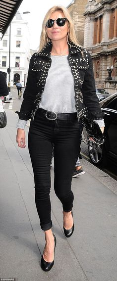 Kate Moss Heads Out For Lunch In Pearly Kings And Queens Jacket