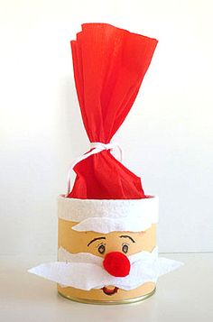 Nikolausgesicht an Dose - Weihnachtsbasteln - Meine Enkel und ich - Χριστούγεννα - Geschenk Christmas Crafts, Christmas Decorations, Christmas Ornaments, Crafts For Kids, Diy Crafts, Little Gifts, Art Lessons, Birthday Gifts, Kindergarten