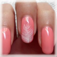 Winter Feather Nail Art DIY