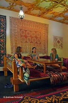 "The Oriental exhibition provides an insight into an Uzbek Tea Room. These ""chaikhanas"" are a place where people get together, where ideas are exchanged and where you can be part of a company."