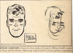 Comic strip artists from the 40's draw their characters blindfolded