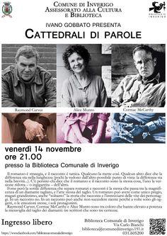 14 NOVEMBRE 2014 - IVANO GOBBATO PRESENTA: Cattedrali di parole