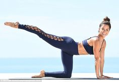 Buns of steel: Brooke Burke-Charvet recently flexed her impossibly fit 5ft7in figure on the Newport Coast set of her new exercise video, Booty Burn