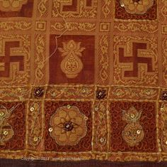 fabric with swastika