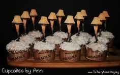 Leg Lamp Cupcakes from A Christmas Story - Tutorial & Free Printables by The Party Animal.  Hilarious!
