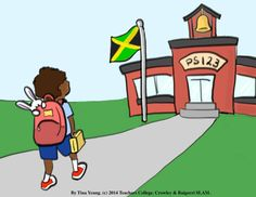 SLAM Bunny Goes to School Cards - Jamaica