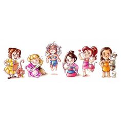 Disney Babies3 ❤ liked on Polyvore featuring disney, disney princess and fillers