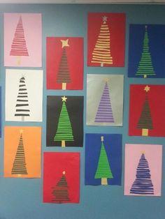 Crafts For Girls, Christmas Crafts For Kids, Xmas Crafts, Christmas Cards, Christmas Decorations, Art Activities For Kids, Art For Kids, Kid Friendly Art, Kindergarten Art