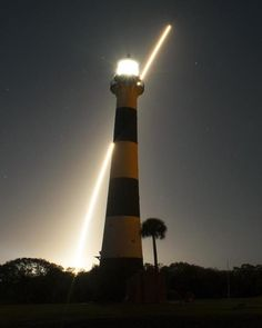 Behind the lighthouse, Night Launch at the cape 1/30/13