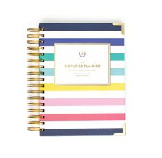 2016 DAILY Simplified Planner - Happy Stripe