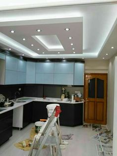 3 Admired Tips: False Ceiling Office Ideas metal false ceiling design.False Ceiling Design For Bedroom. Kitchen Interior, Home Ceiling, Kitchen Ceiling Design, Pop False Ceiling Design, House Ceiling Design, Kitchen Room, Living Design, Kitchen Design, Living Room Designs