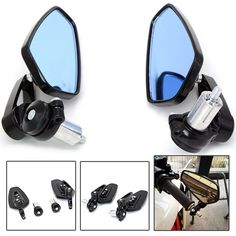 Universal motorcycle Scooter Rearview Mirrors for Kawasaki ZX6R ZX7R ZX10R ZX14R NINJA650R ER6N Z750 Z800 Z1000 yamaha mt09 07