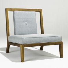 What a fabulous little James Mont chair.