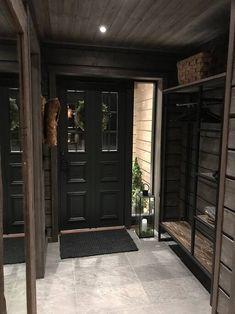 Summer House Interiors, Log Home Interiors, Cottage Interiors, Cabin Homes, Log Homes, Scandinavian Cabin, Small Hallways, Rustic Home Design, Lodge Decor