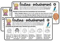 ÉCRIT : les exercices en autonomie French Resources, Writing Resources, Writing Activities, Learning Resources, Daily 5 Reading, Cycle 3, French Teacher, Classroom Language, Teacher Organization