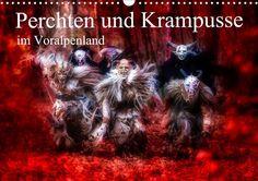 Perchten und Krampusse im Voralpenland - CALVENDO Kalender von Manfred Fiedler: Perchten und Krampusse im Voralpenland - ein schauriger Brauch. Alle Jahre wieder finden in Bayern, Österreich und der Schweiz Perchtenläufe zu Weihnachtsmärkten statt. Die Passen lassen sich natürlich auch gerne außerhalb dieser Läufe fotografieren. In diesem Fall wurden die Fotos mit dem Schöffleut Pass und dem Nergal Pass gemacht.