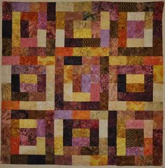 "This is a fabulous pattern, great for the beginner but still fun enough for the experienced quilter.  Pattern uses 2.5"" strips, a great way to use Bali Pops, Jelly Rolls, etc.  Classes available on an individual basis or at Smith Owen Sewing Center!"