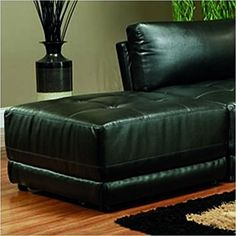 Coaster Home Furnishings Kayson Tufted Leather Ottoman Black - This product was exactly what I needed. Tufted Leather Ottoman, Black Ottoman, Leather Bed, Leather Couches, Contemporary Dining Room Sets, Sectional Sofa With Recliner, Mid Century Modern Armchair, Chairs For Small Spaces, Bedroom Chair