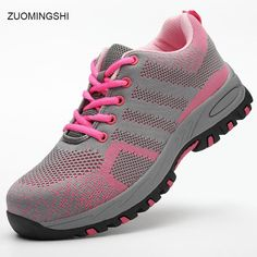 89aa2ea5ac0b 2018 new shoes women safety shoes breathable work boots light bot and  comfortable safety boots with steel toe and steel sole.