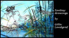 Fantasy Drawings by Gitta Landgraf Fantasy Drawings, Artwork, Work Of Art, Auguste Rodin Artwork, Artworks, Illustrators