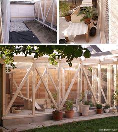 Gartenhaus als Hasenstall