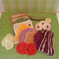 10 Food Crochet Patterns for June: Crochet Sandwich Food Items