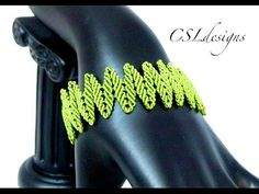 Alternating leaves micro macrame bracelet - YouTube