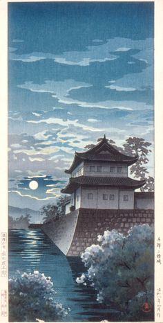 Nijō Castle, Kyoto Alternate Title: Kyōto Nijōjō Tsuchiya Kōitsu (Japan, 1870-1949) Japan, April 1933 Prints; woodcuts Color woodblock print Image: 14 5/16 x 7 1/16 in.