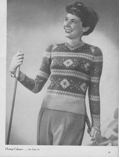 Flying Colours by KillerKitschDesigns on Etsy Knit Or Crochet, Vintage Patterns, Kitsch, 1940s, Christmas Sweaters, Colours, Knitting, Etsy, Women