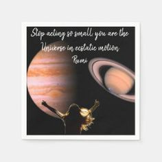 Universe in Motion Paper Napkins Party Napkins, Ecru Color, Presentation, That Look, Universe, Paper, Things To Sell, Cosmos, Space