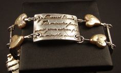 Love Letter Bracelet in Fine Silver with Pearls by WillowandMe, $200.00