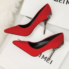 Heels - Fashion Red Bottom High Heels Office Sapato Feminino Pumps Women  Shoes Black Wedding Dress Party Ladies Shoes Plus Size Zapatos 067ca8366c1a
