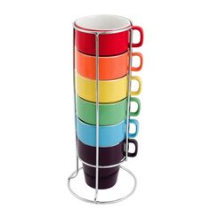 I pinned this 7 Piece Rainbow Cappuccino Tower Set from the pt by Present Time event at Joss & Main!