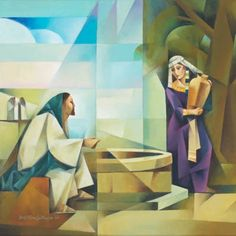 Browse - By Artist - Jorge Cocco - Jesus and the Samaritan Woman - Altus Fine Art Images Of Christ, Pictures Of Christ, Temple Pictures, Christian Images, Christian Art, Jesus Art, Jesus Christ, Biblical Art, Modern Artists