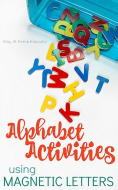 5 Alphabet Activities Using Just a Set of Letters | how to use letter manipulatives | magnetic letters | alphabet activities | teaching ABCs | letter activities for preschoolers