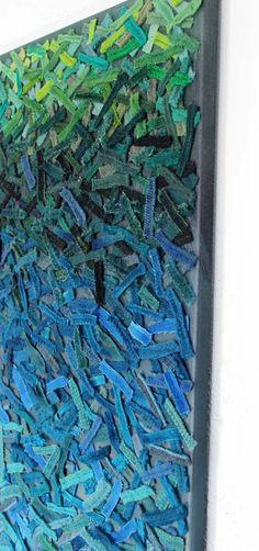 Underwater Fiber Art Wall Hanging / Textured por TexturesGallery