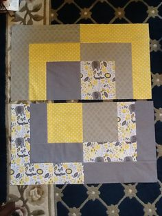 Big Baby Bento Box Quilt Free Tutorial by Ronda Cassens from Ronda's Creations Quilt Blocks Easy, Big Block Quilts, Lap Quilts, Scrappy Quilts, Baby Quilts Easy, Baby Boy Quilts, Baby Boy Quilt Patterns, Quilt Block Patterns, Kids Patterns