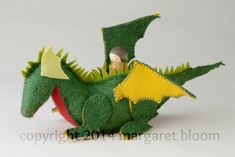 Peg Doll and Felt Dragon from Making Peg Dolls & More by Margaret Bloom