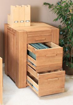 Atlas Solid Oak Furniture Filing Cabinet - Three Drawers - Bathrooms and More Store - Storage