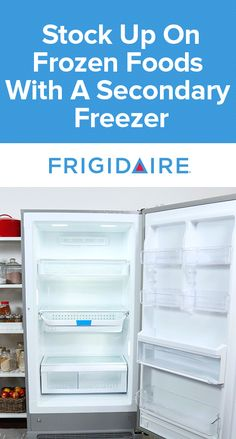 Stock up and save time & money with a secondary Frigidaire Freezer. Extra storage space gives you plenty of room to buy in bulk and store freezer meals.