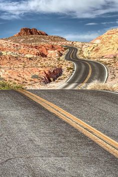 """l-eth-e: """" valley of fire highway {by dirk seifer} """" Beautiful Roads, Beautiful World, Route 66, Highway Road, Valley Of Fire, Winding Road, Road Trippin, Pathways, Missouri"""